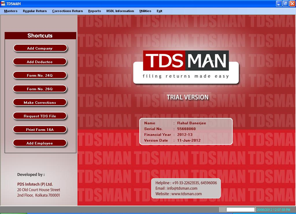 Windows 7 TDSMAN F.Y.2012-13 full